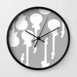 Simple Grey Guitar Wall Clock