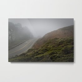 Fogbound on Twin Peaks, II Metal Print