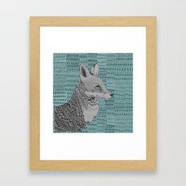 Fox portrait Framed Art Print