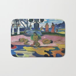 Day of the God (Mahana no atua) (1894) by Paul Gauguin Bath Mat