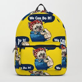 We Can Do It French Bulldog Backpack