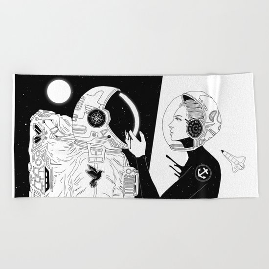I Found a Space for Us Beach Towel