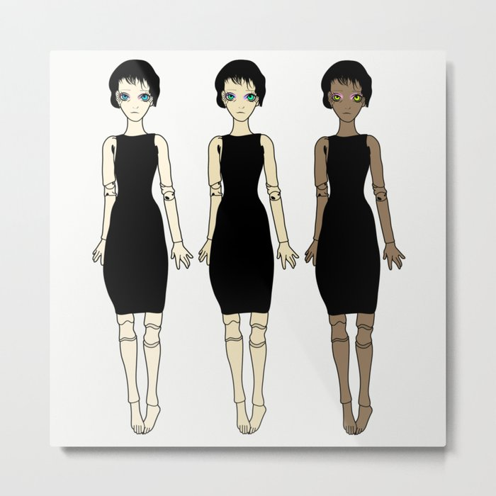 Witch Sister Triplet - Ball Jointed Dolls Series Metal Print