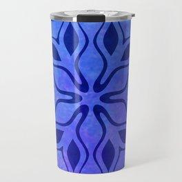 Blue Snowflake Travel Mug
