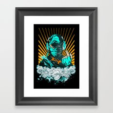 Ninja Beats Framed Art Print