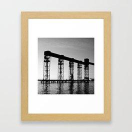 Moving Grains Framed Art Print
