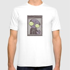 Office Zombie SMALL White Mens Fitted Tee