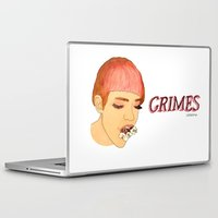 grimes Laptop & iPad Skins featuring Grimes by caxcma