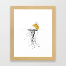The Island - Minimal line Framed Art Print