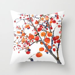 GIFT OF PERSIMMON Throw Pillow