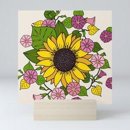 Morning Flower and Sunflower Mini Art Print