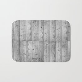 Wood 6 Black & White Bath Mat