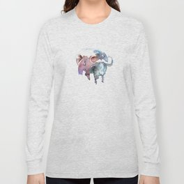African buffalo / Abstract animal portrait. Long Sleeve T-shirt