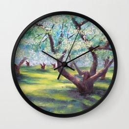 Spring Tree Landscape Wall Clock