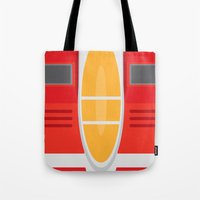 transformers Tote Bags featuring Starscream Transformers Minimalist by Jamesy