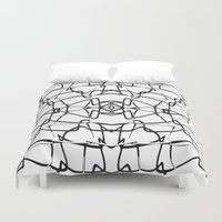 the wire Duvet Covers featuring wire by kartalpaf