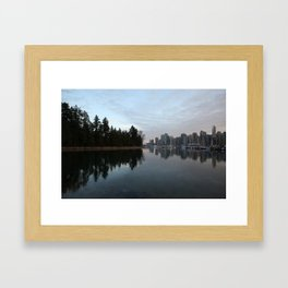 Reflections of Vancouver Framed Art Print