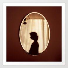 Mirror Silhouette Art Print