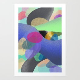 Abstract Colorful Textures Shapes #1 Art Print