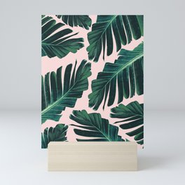 Tropical Blush Banana Leaves Dream #1 #decor #art #society6 Mini Art Print