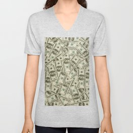 100 dollar bills Unisex V-Neck