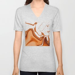 Warm Colors Abstract Design Unisex V-Neck