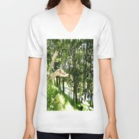 forrest V-neck T-shirts featuring Forrest Feeling by I AmErika