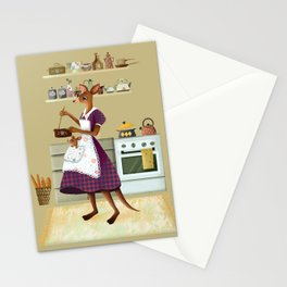 Kangaroo Illustration Stationery Cards