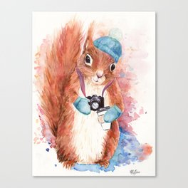 Winter Squirrel Canvas Print