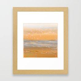 Peach Beach Memories Framed Art Print