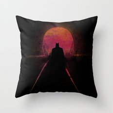 Dark heroe Throw Pillow