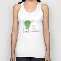record Tank Tops featuring Record Playing by MaryMulberry
