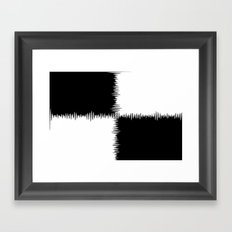 QUARTERS #1 (Black & White) Framed Art Print