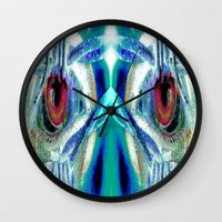 pain Wall Clocks featuring Pain by Robin Curtiss