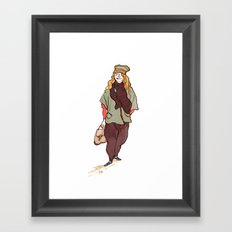 Girl and a Tuque Framed Art Print
