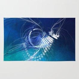 Mercury in Cancer Cardinal Water - #Abstract #Art #Illustration by Menega Sabidussi #society6 Rug