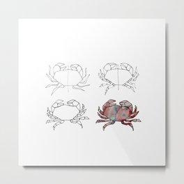 Evolution d'un crabe Metal Print