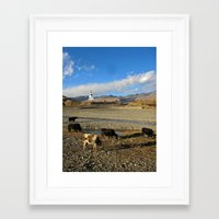 china Framed Art Prints featuring china by d.t.magee