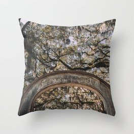 Wormsloe Historic Site - Savannah, Georgia Throw Pillow