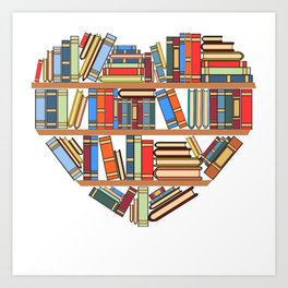 """Hearty Library Books For Amazing People """"Reading Is Lit"""" T-shirt Design Books Library Study Learning Art Print"""