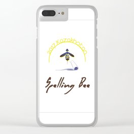 2017 Kazakhstan Spelling Bee logo Clear iPhone Case