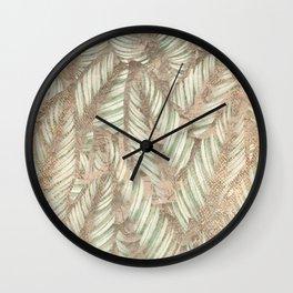 Vintage Tropical Leaves Wall Clock