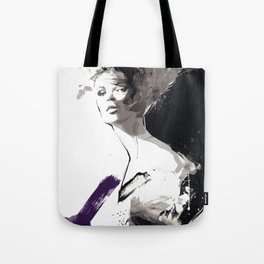 Fashion Painting, Fashion IIlustration, Vogue Portrait, Fashion Beauty, Black and White colours, #10 Tote Bag