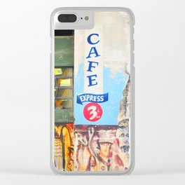 134. Express coffee please, Cuba Clear iPhone Case