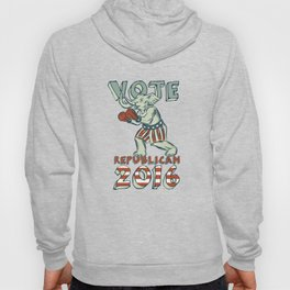 Vote Republican 2016 Elephant Boxer Isolated Etching Hoody