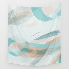 Big Abstract Paint Brush Strokes and Graphic Plaster Patterns Wall Tapestry