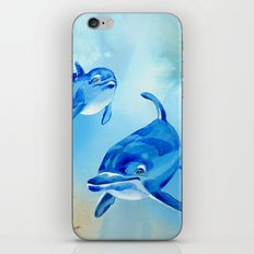 Floating Free - Dolphins iPhone Skin