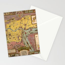 Map of Shanghai 1935 Stationery Cards