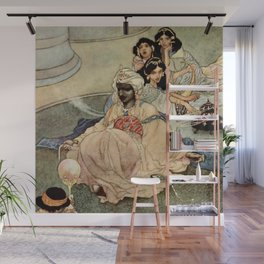 """King of the Mountains of the Moon"" by Charles Robinson Wall Mural"