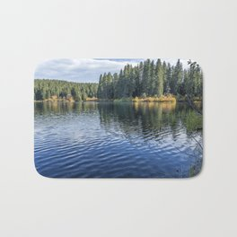 Rippled Reflections on Clear Lake Bath Mat